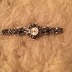 Vintage Silver + Black watch